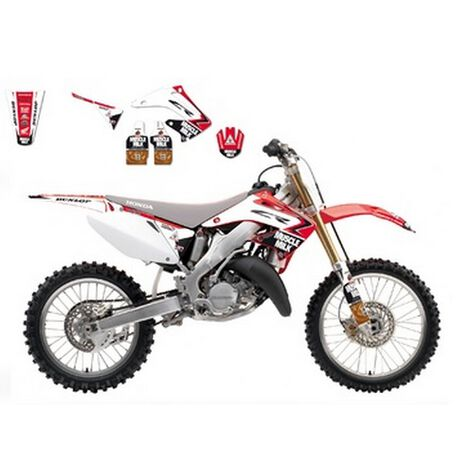 _Kit deco blackbird Replica Muscle Milk Honda CR 125/250 02-07   8136R9   Greenland MX_