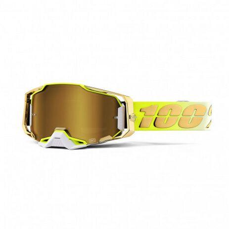 _100% Armega Mirror Lens Goggles Feel Good Gold | 50721-253-01-P | Greenland MX_