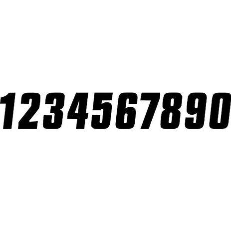 _Zahlenaufkleber 7 # 6 Schwarz   TJNV6B   Greenland MX_