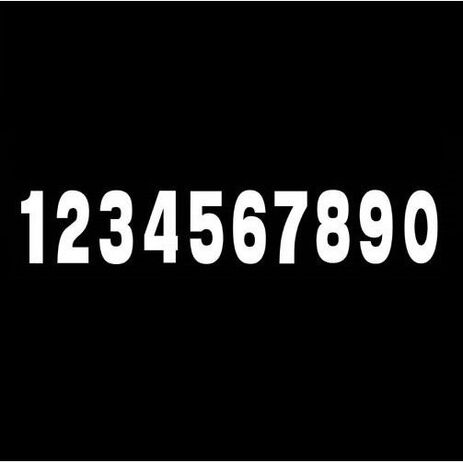 _Numeros vinyle 7 # 9 blanc | TJNV9W | Greenland MX_