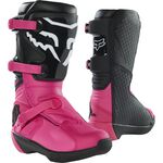 _Fox Comp Youth Boots Black/Pink | 27689-285 | Greenland MX_