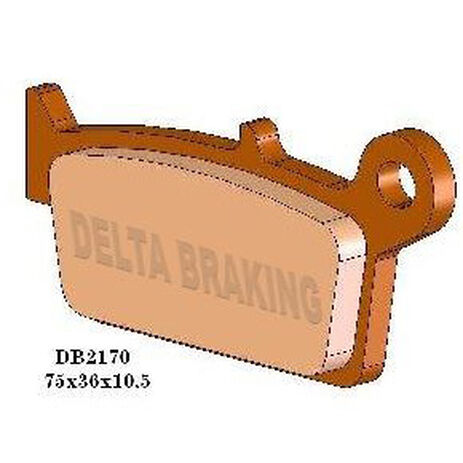 _Delta Rear Brake Pads Gas Gas 00-08 KX 125/250 95-08 RM 125 96-08 RM 250 96-06 YZ 125 98-02 TM EN 300 01-13 MX/125/250/300 01-13 | DB2170 | Greenland MX_