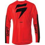 _Shift 3Lack Label Race Jersey Red/Black | 24119-055 | Greenland MX_