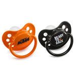 _Pair Of KTM Baby Pacifier Orange & Black | 3PW1770700 | Greenland MX_