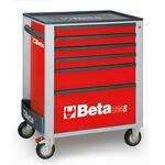 _Werkzeugwagen mit Sechs Schubladen Beta Tools | C24S-6-R-P | Greenland MX_