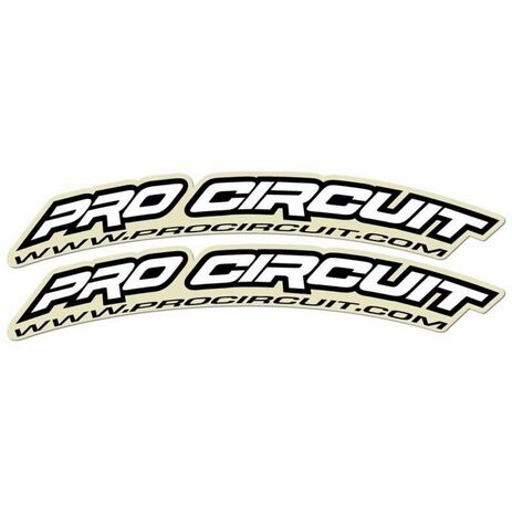 _Pro Circuit Aufkleber Kotflügel Vorne (125cc-500cc) | DC0010 | Greenland MX_