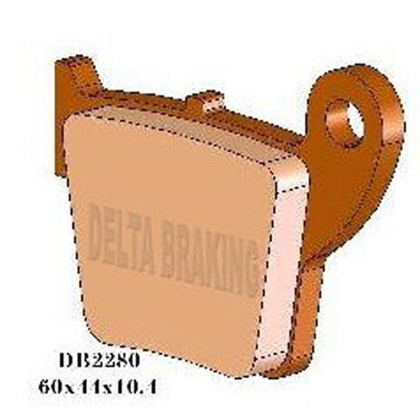 _Delta Brake Pads Honda CR 125 02-07 250 CRF 250 R/X 04-.. CRF 450 R 03-.. | DB2280 | Greenland MX_