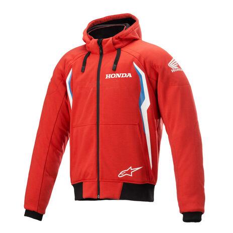 _Alpinestars Honda Chrome V2 Sport Zip Hoodie Red/Blue | 4200821-3017 | Greenland MX_