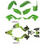 _Polisport Restyling Kunststoffteilekit + Komplett Aufkleber Kit Kawasaki KX 125/250 03-08 | KIT-PAPR-3 | Greenland MX_