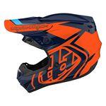 _Troy Lee Designs GP Overload Youth Helmet Navy/Orange   104252003-P   Greenland MX_