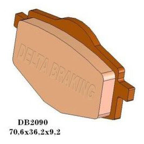 _Delta Brake Pads Rear Yamaha DT 125 | DB2090 | Greenland MX_
