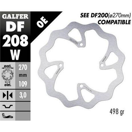 _Galfer Bremsscheibe Vorne Flower Kawasaki KX 250/450 F 250 15-.. 270x3 mm | DF208W | Greenland MX_
