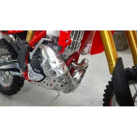 _Motorschutzplatte mit Auspuffschutzkappe und Umlenkhebelschutz P-Tech Beta RR 250/300 2T 13-19 | PK002B | Greenland MX_