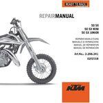 _KTM DVD 50 SX Mini 09-19 Repair Manual | 3206341 | Greenland MX_