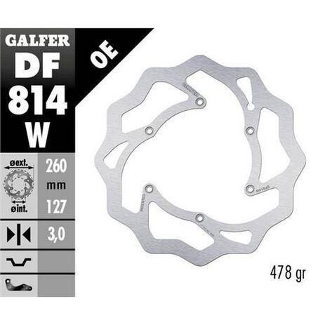 _Galfer Bremsscheibe Vorne Flower Beta RR 250 2T Enduro 12-.. RR 450 4T Enduro 13-.. 260x3 mm | DF814W | Greenland MX_