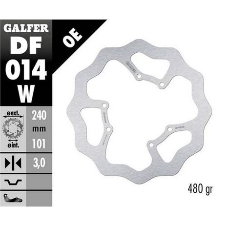 _Galfer Front Brake Disk Flower Type Honda CR 125 R 98-01/95-97/05-07 240x3 mm | DF014W | Greenland MX_