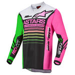 _Alpinestars Racer Compass Jersey Black/Green/Pink | 3762122-1669 | Greenland MX_