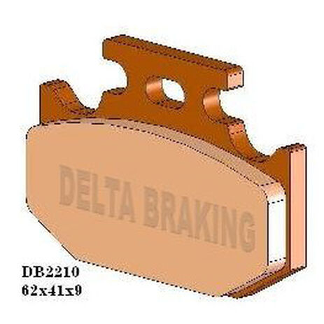 _Plaquettes De Frein Delta Arrière Kawasaki KX 125/250 90-94 KX 500 89-95 RM 125 87-95 YZ 125 90-97 YZ 250 89-97 WR 250 91-97 WR/YZ 400 98 | DB2210 | Greenland MX_
