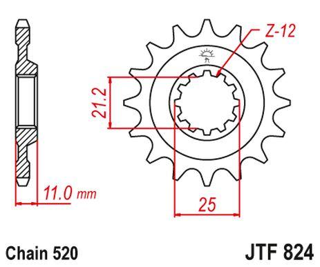 _JT Front Sprocket Husqvarna TE/TC 250/510 06-11 | PB0824 | Greenland MX_