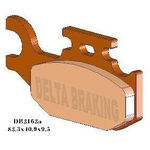 _Delta Rear Brake Pads Yamaha YFM Raptor 700 06-08 | DB2162 | Greenland MX_