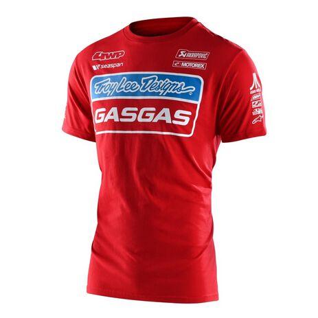 _Troy Lee Designs Gas Gas Team T-Shirt Red | 701318002-P | Greenland MX_
