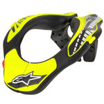 _Alpinestars Youth Neck Support Black/Yellow Fl. | 6540118-155-OS | Greenland MX_