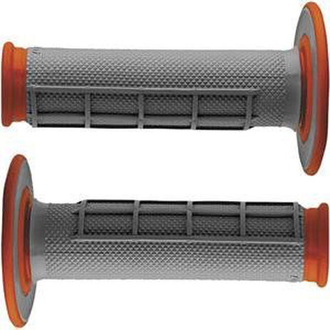 _Renthal dual half waffle medium grips orange | G155 | Greenland MX_