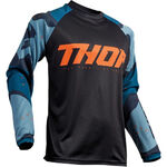 _Thor Sector Camo Jersey Blue | 2910-4913-P | Greenland MX_