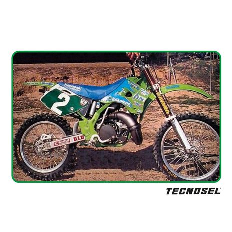 _Tecnosel Decal Kit + Seat Cover Replica Team Kawasaki 1996 KX 125/250 94-98 | 84V01 | Greenland MX_